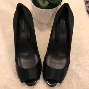 White House Black Market Satin Stiletto- size 9